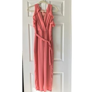 Super cute, fancy coral pink jumpsuit - Everly